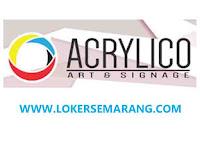 Lowongan Kerja Semarang Sales Project di Acrylico