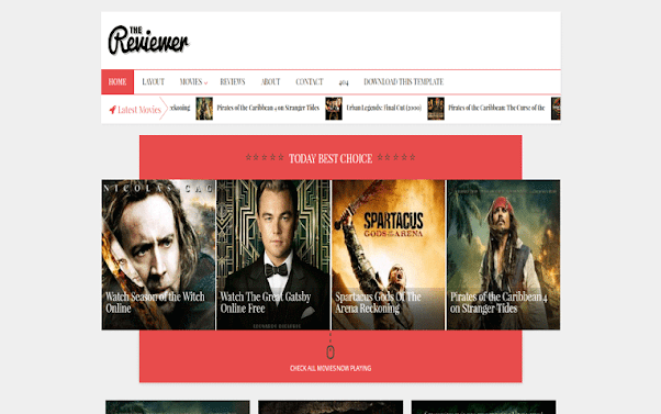 The Reviewer Free Blogger Template