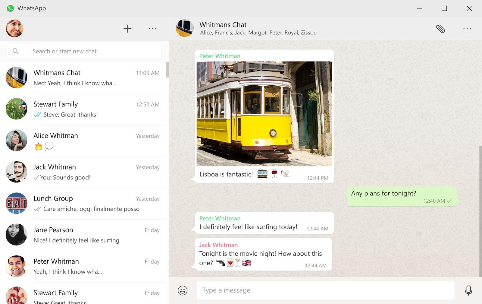 WhatsApp app for Windows, Mac