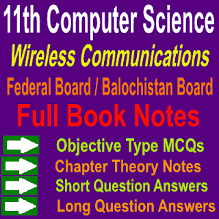 Federal Board Intermediate Part First Computer Scinece Notes Chapter 6