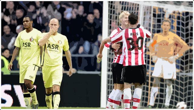 PSV FEYENOORD JONATHAN REIS 10-0 EREDIVISIE