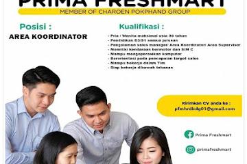 Lowongan Kerja Bandung Area Koordinator Prima Freshmart