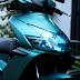 Sơn xe Air Blade 2008 màu xanh ngọc nhám - Xanh Oliver