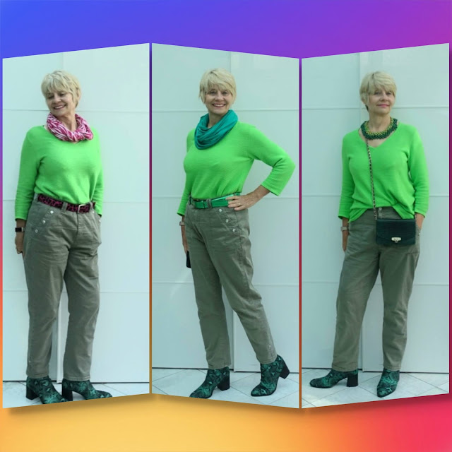 Which green outfit did Gail Hanlon wear to the first ever Kettlewell Colour Club London meet-up?