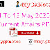 1 To 15 May 2020 Current Affairs PDF