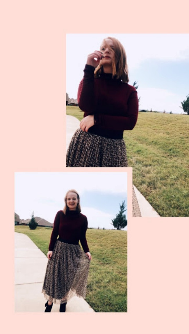 A New Day Leopard Tulle Skirt Outfit