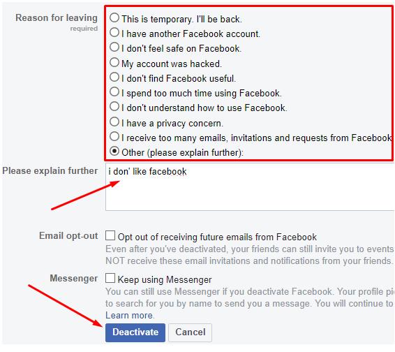 facebook id delete karne ka tarika