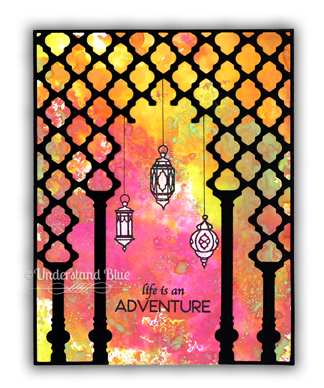 Distress Oxides - Lanterns card by Understand Blue