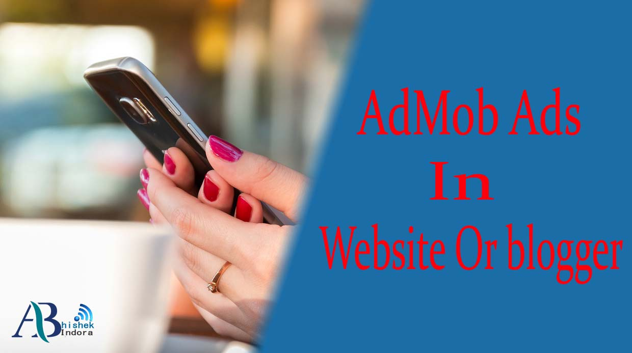 How to add admob ads in website and blogger