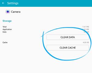 Hpus Cache dan Data Aplikasi Kamera
