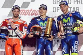 Klasemen Sementara MotoGP 2017 Usai GP Qatar