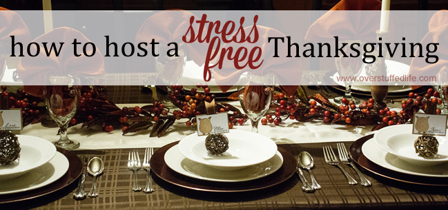 Don't let entertaining on Thanksgiving stress you out! Nine tips to help you host a stress-free Thanksgiving Dinner.