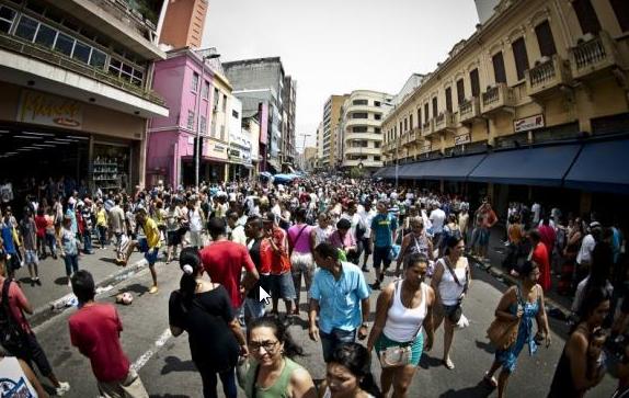 Estimativa da população do Brasil passa de 210 milhões, diz IBGE