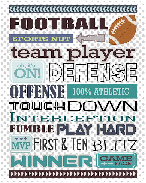 Gael's Crafty Treasures Free Football Printable Sign