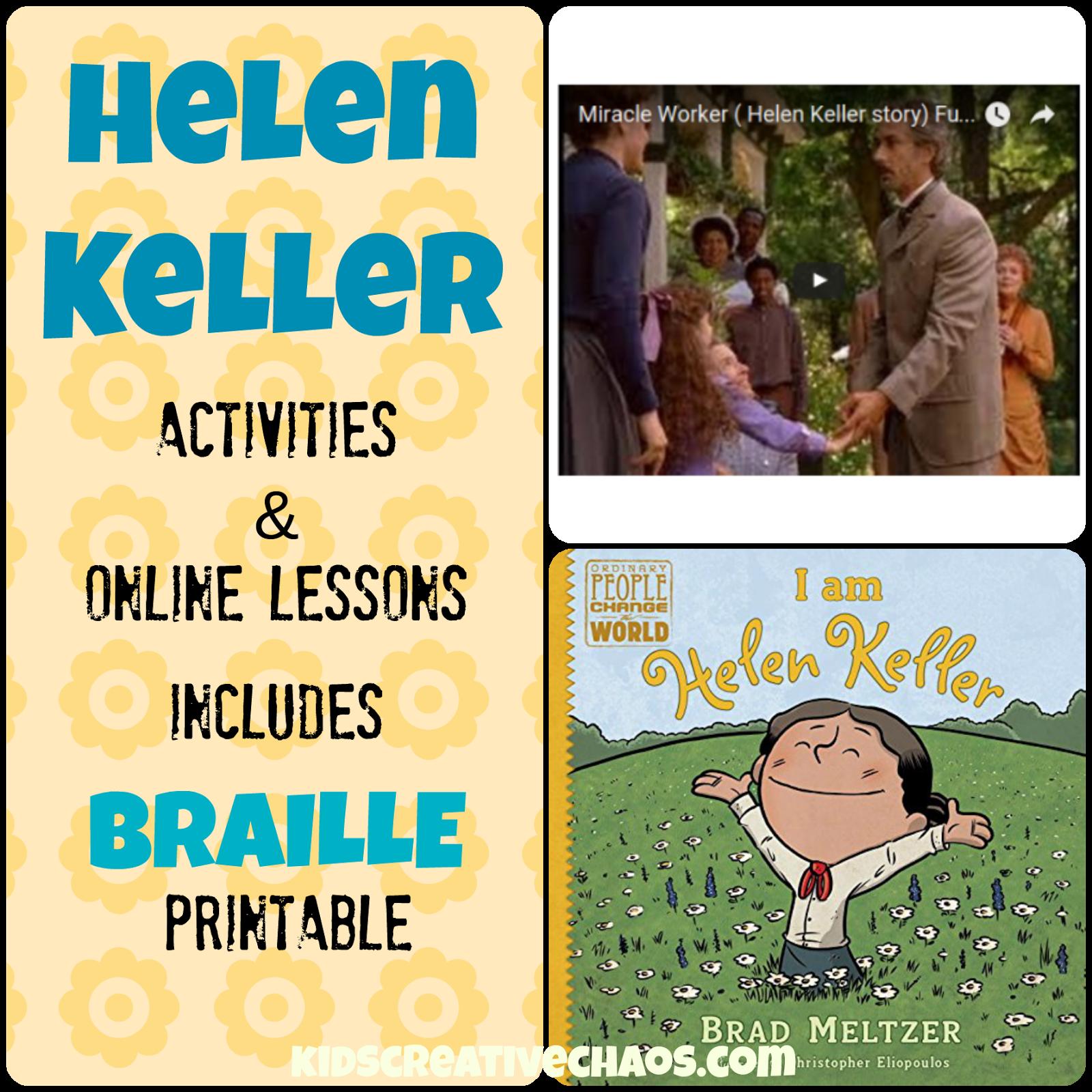 Helen Keller Lesson Plans Elementary Middle School