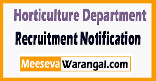 Horticulture Department Haryana Recruitment Notification 2017
