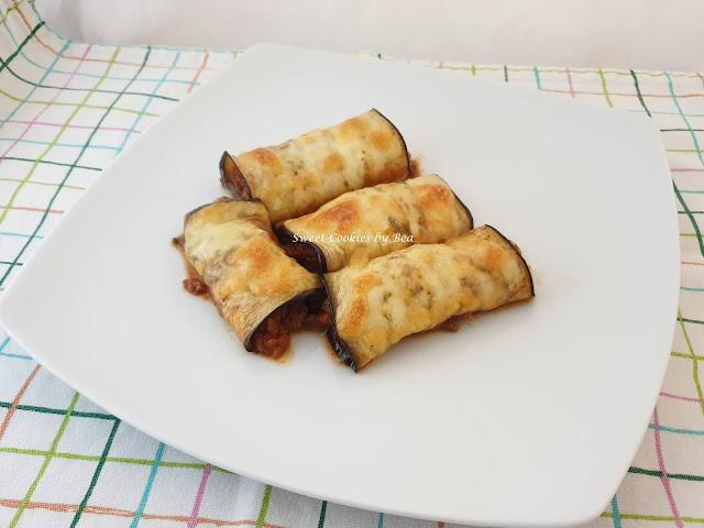 Canelones de berenjena rellenos de carne