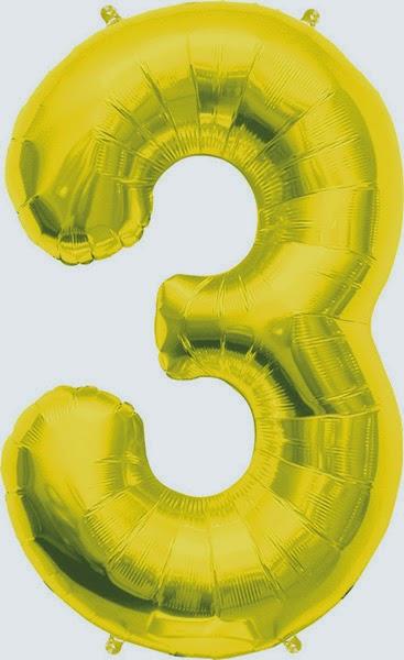 Фольгированный шарик цифра золотая