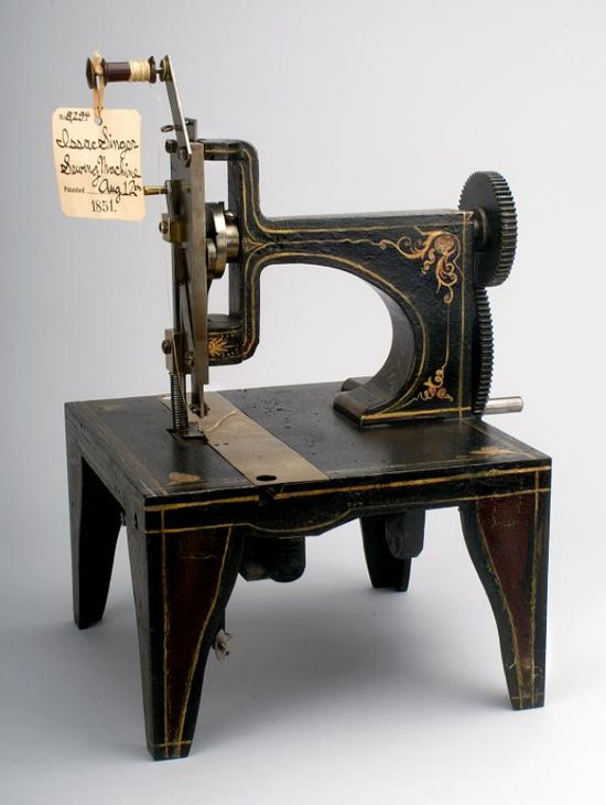 Singer sewing machine patent model 1851 - front