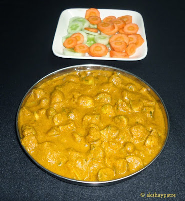 mushroom kurma ready to serve