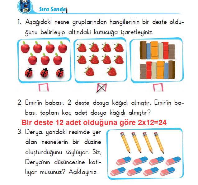 2. Sınıf Başak Yayınları Matematik 20. Sayfa Cevapları 1. Ünite Deste ve Düzine