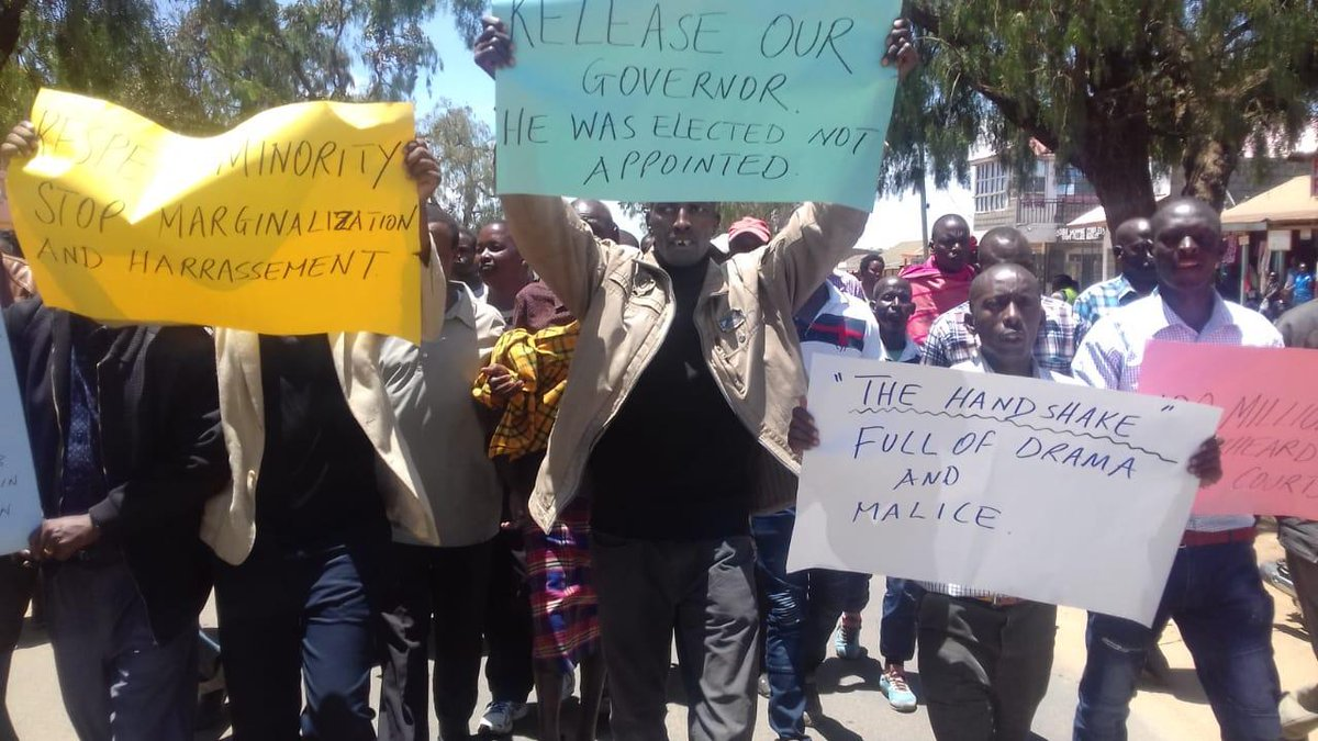 You Won't Believe The Stupidity. Samburu Residents Demand The Release of Governor Who Stole Their Money
