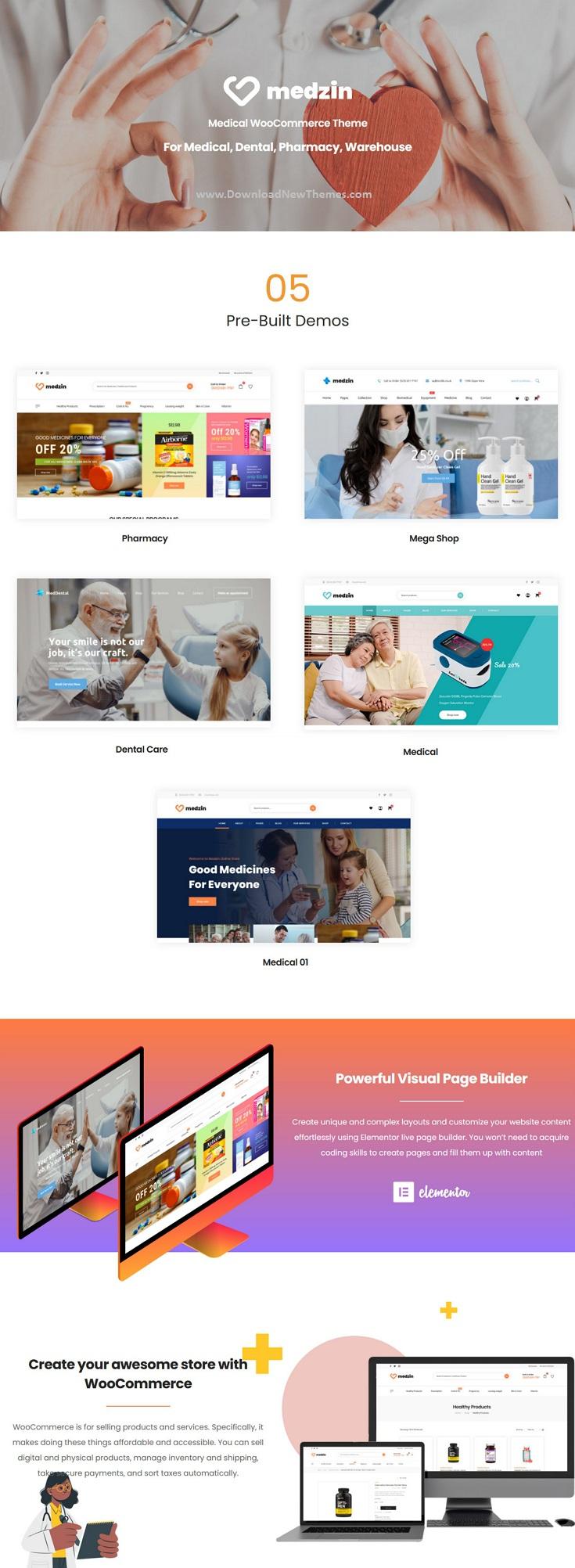 Multipurpose Medical WooCommerce WordPress Theme