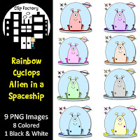 Rainbow Cyclops in an Alien Spaceship