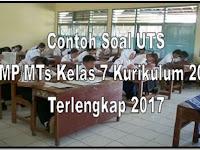 Bank Soal UTS SMP/MTs Kelas 7 Semester 1 Super Lengkap