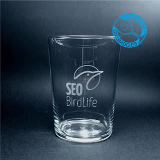 """Vaso de sidra personalizado con el logotipo de la ONG """"SEO BIRDLIFE"""""""