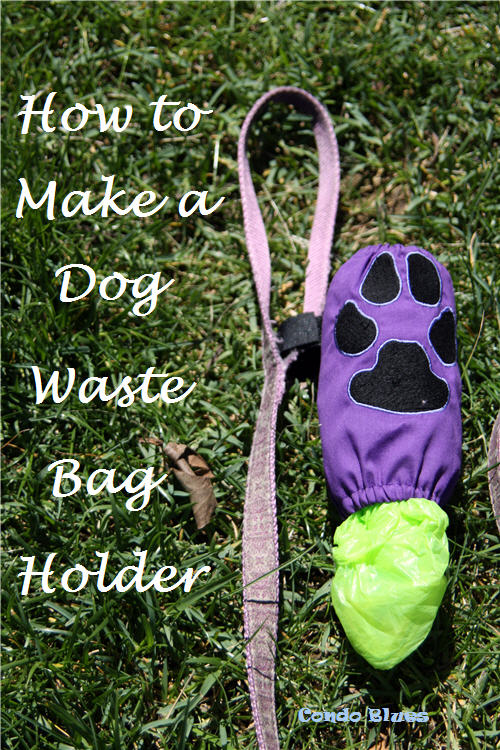 how to make a dog poop bag holder