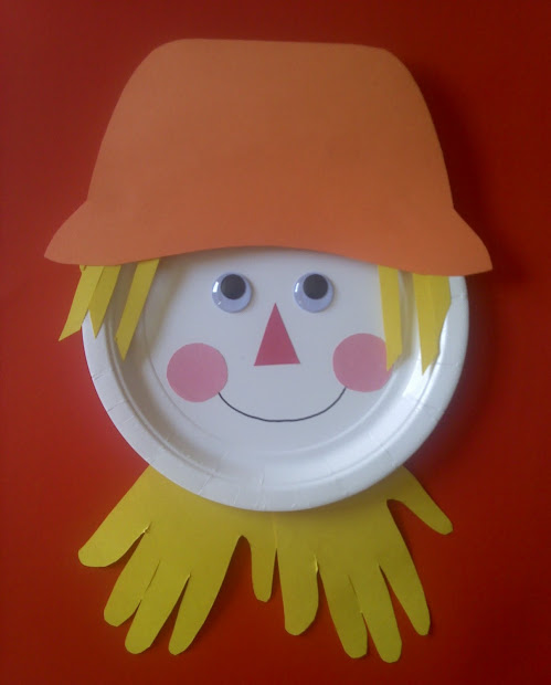 Fall Paper Plate Scarecrow Craft