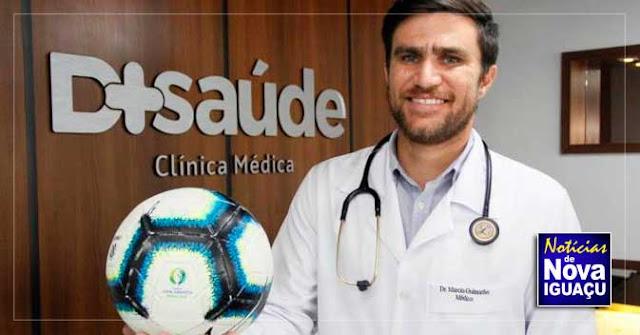 Ex-volante do Flamengo vira médico e atua contra o coronavírus em Nova Iguaçu
