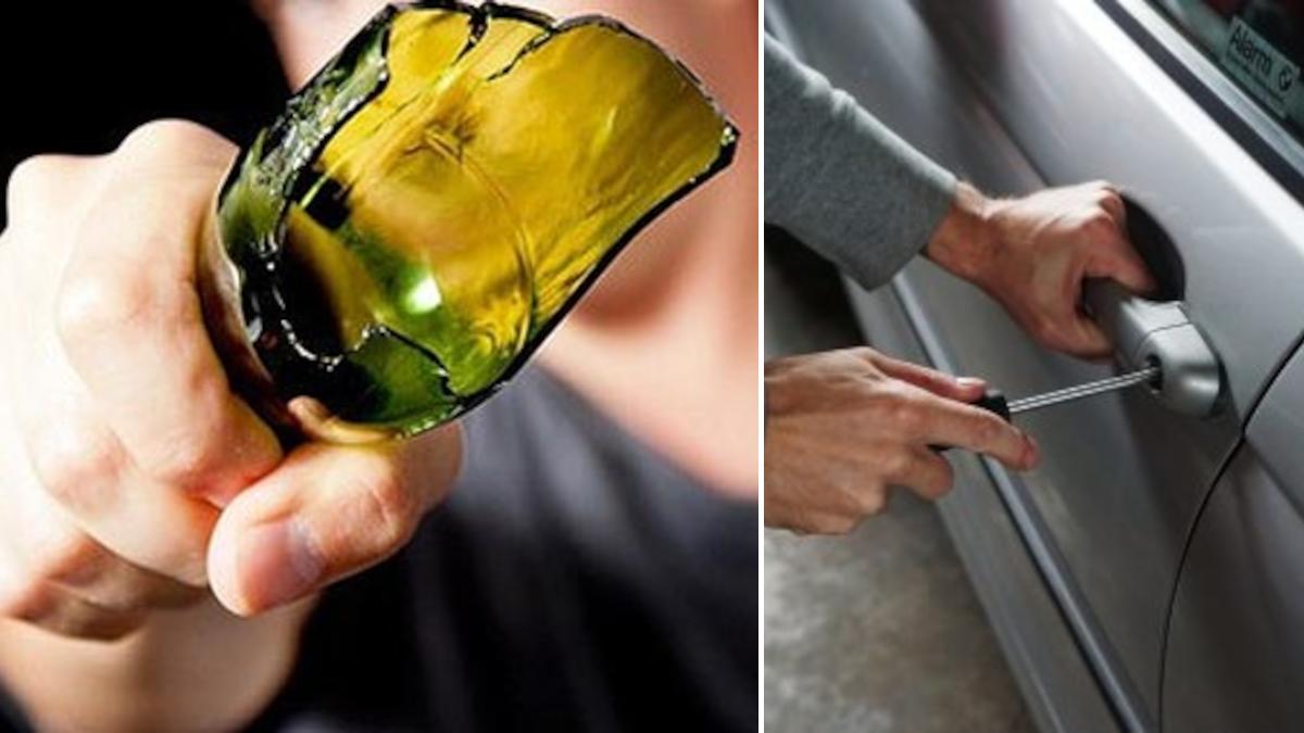 RUmo aggressione bottiglia rotta e furto auto Polizia di Stato via Vittorio Emanuele