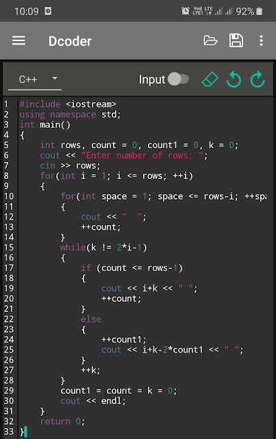 Dcoder - compiler and IDE app for Android