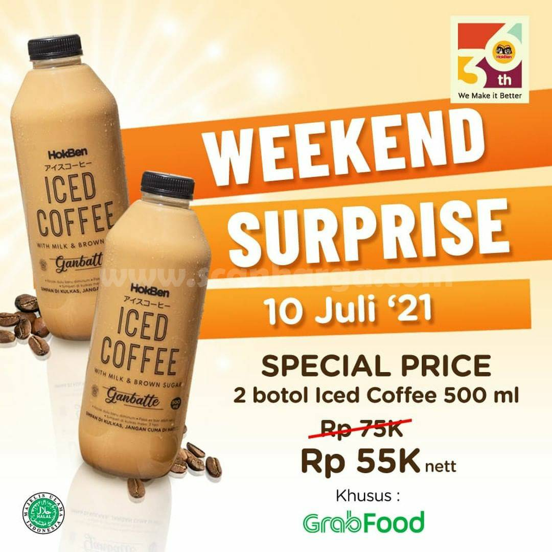 Promo HOKBEN WEEKEND SURPRICE - Beli 2 Botol Iced Coffee Cuma 55K