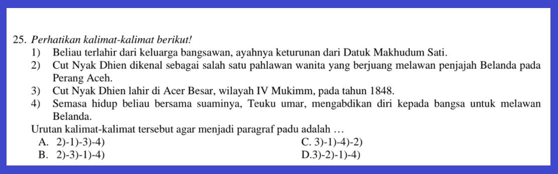 gambar soal pat bahasa indonesia kelas 9 2021