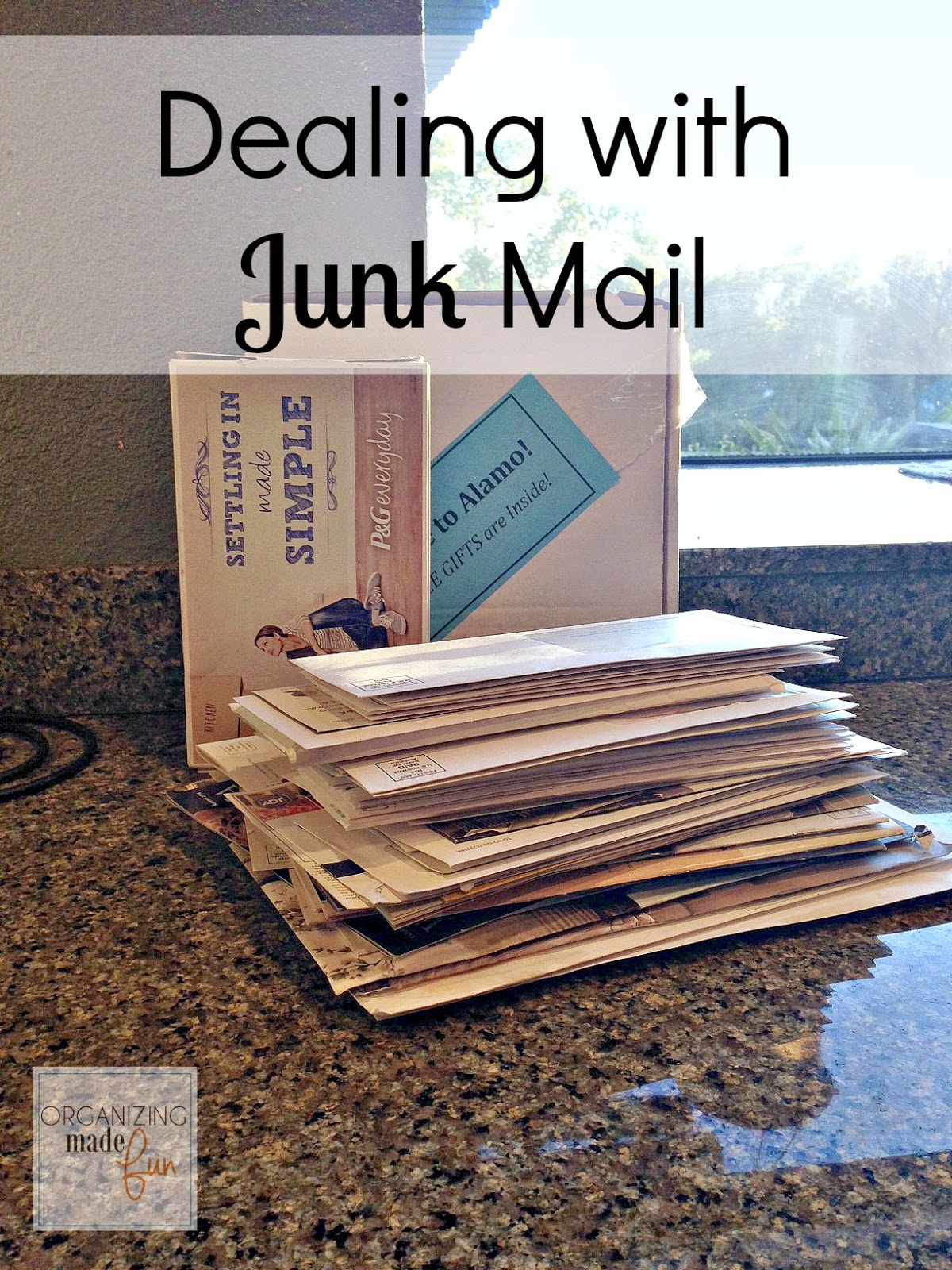 Dealing with Junk Mail | Organizing Made Fun: Dealing with
