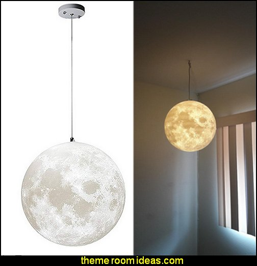 Moon Pendant Lamp  celestial bedroom lighting moon stars bedroom decor