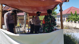 Polres Lingga melalui Polsek Senayang Kembali dirikan Dapur Umum bersama TNI