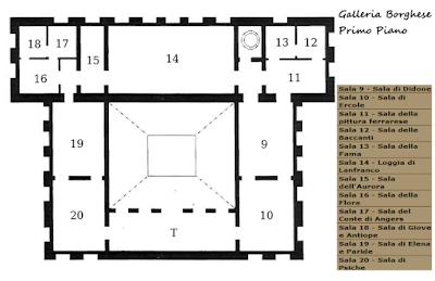 Mappa Primo Piano Galleria Borghese