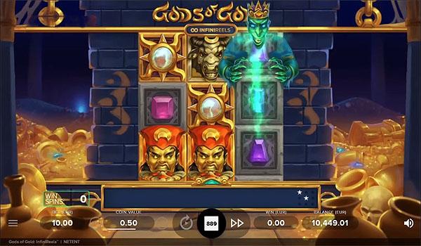Main Gratis Slot Indonesia - Gods of Gold Infinireels (NetEnt)