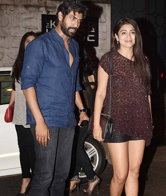 Shriya Saran, Rana Daggubati Spotted In Mumbai Photos