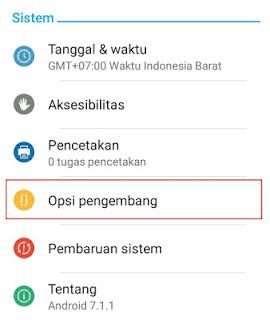 Cara Mengaktifkan Mode Pengembang/Debugging Di Semua Android