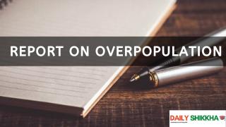 Report on Overpopulation