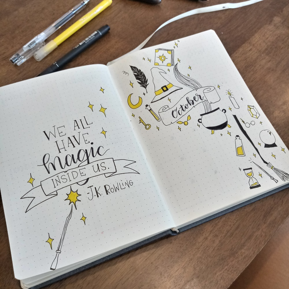 Renee's Bullet Journal October Theme