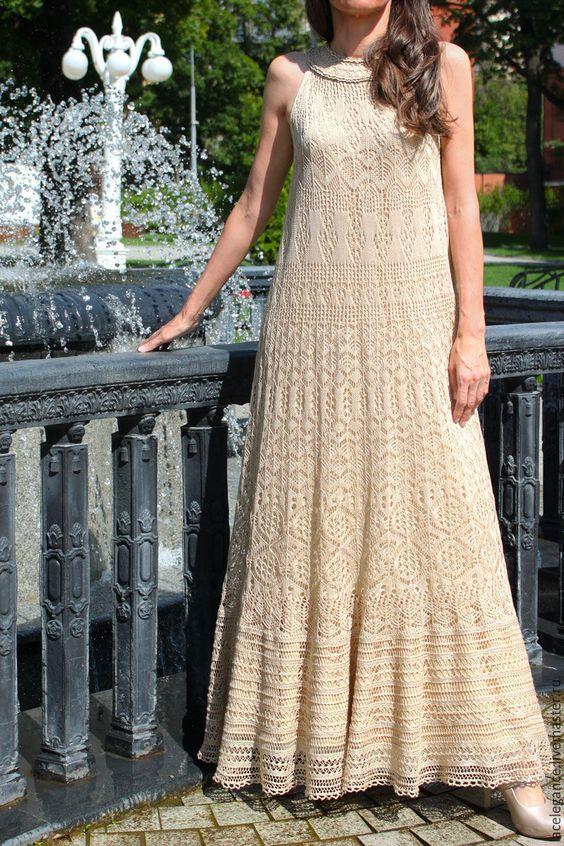 sukienki z wełny estońskiej na drutach