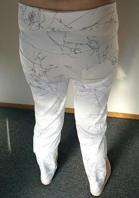 Creates Sew Slow: Style Arc Flat Bottom Flo White Pants