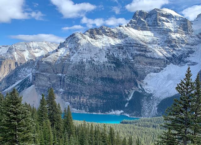 Moraine Lake set fra Eiffel Lake Trail Banff National Park Alberta Canada