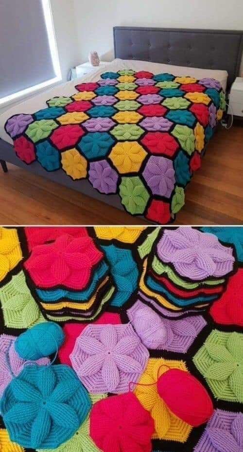 como-tejer-hexagono-con-flor-a-crochet